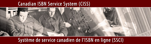 Welcome to the Canadian ISBN Service System / Bienvenue au système de service canadien de l'ISBN en ligne