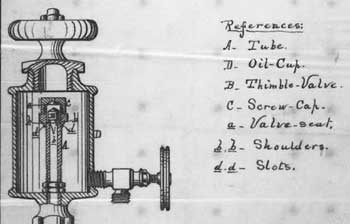 Page from Elijah J. McCoy, Charles G. Wiard and George G. Roby's 1874 patent, IMPROVEMENTS ON LUBRICATORS FOR STEAM ENGINES; 4 pages