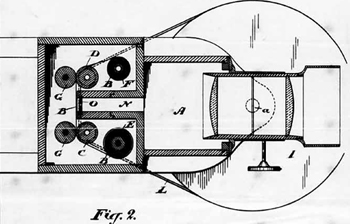 Page from John R. Connon's 1888 patent, PHOTOGRAPHIC INSTRUMENT; 8 pages