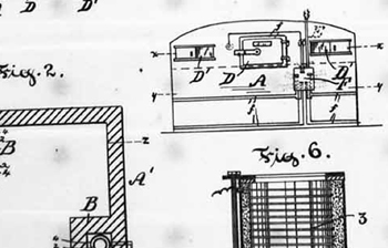 Page from Thomas Ahearn's 1892 patent, ELECTRIC OVEN; 6 pages