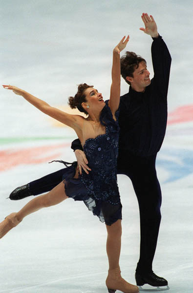 Canada's Chantal Lefebvre and Michel Brunet perform their routine during the ice dancing competition at the 1998 Winter Olympics in Nagano, Japan. (CP PHOTO/COA)