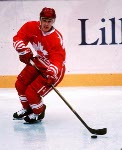 Canada's Paul Kariya in action during the gold medal game which Sweden won 3-2 in a shoot out at the 1994 Lillehammer Winter Olympics. (CP PHOTO/ COA)