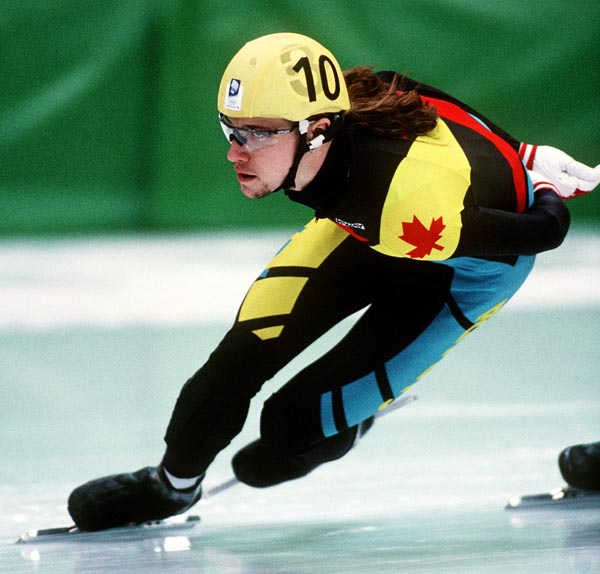 Canada's Marc Gagnon competes in the speed skating event at the 1994 Lillehammer Winter Olympics. (CP PHOTO/ COA).