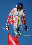 Canada's Rob Crossan competing in the alpine ski event at the 1992 Albertville Olympic winter Games. (CP PHOTO/COA/Scott Grant)