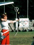 Canada's Lucille Lessard chosen for the archery team but did not compete in the boycotted 1980 Moscow Olympics . (CP Photo/COA)