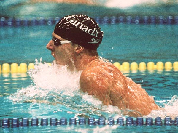 Canada's Gary Anderson competing in the swimming event at the 1988 Olympic games in Seoul. (CP PHOTO/ COA/ Cromby McNeil)
