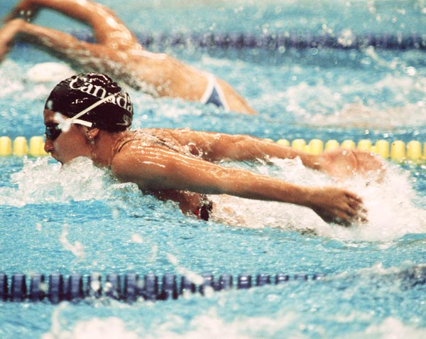 Canada's Mojca Cater competing in the swimming event at the 1988 Olympic games in Seoul. (CP PHOTO/ COA/ Cromby McNeil)