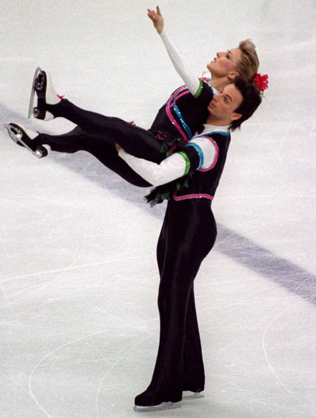 Canada's Tracy Wilson and Robert McCall  participate in the figure skating - ice dance event at the 1988 Winter Olympics in Calgary. (CP PHOTO/COA/ C. McNeil)