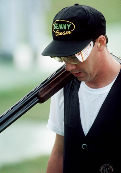 Canada's George Leary competing in the shooting event at the 1988 Olympic games in Seoul. (CP PHOTO/ COA/ C. McNeil)