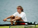 Canada's Jennifer Wallings competing in the rowing event at the 1988 Olympic games in Seoul. (CP PHOTO/ COA/ Cromby McNeil)