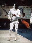 Canada's Wolfe Balk competes in the fencing event at the 1988 Olympic games in Seoul. (CP PHOTO/ COA/ F.S.G.)