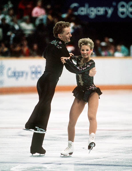 Canada's Doug Ladret and Christine Hough participate in the pairs figure skating event at the 1988 Winter Olympics in Calgary. (CP PHOTO/COA/S.Grant)