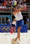 Canada's Conrad Leinemann competes in the beach volleyball event at the Sydney 2000 Olympic Games. (CP PHOTO/ COA)