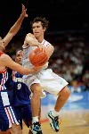 Canada's Steve Nash (7) participates in basketball action at the 2000 Sydney Olympic Games. (CP Photo/ COA)