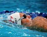 Canada's Marianne Limpert competes in a swimming event at the 2000 Sydney Olympic Games. (CP Photo/ COA)