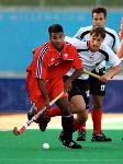 Canada's Ronnie Jagday playing field hockey at the 2000 Sydney Olympic Games. (CP Photo/ COA)