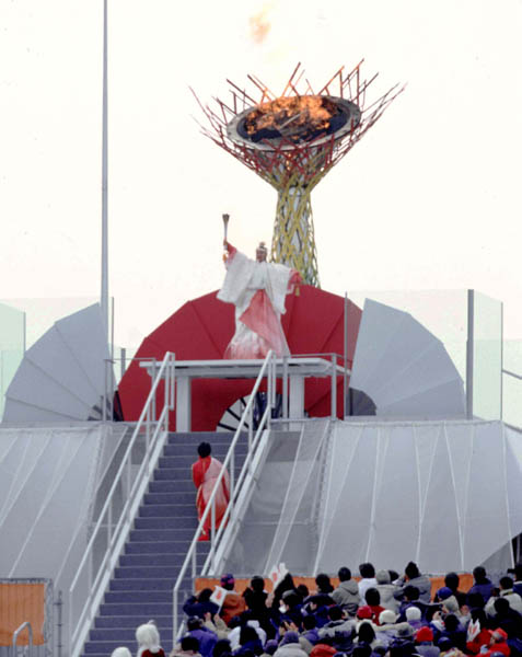 Image result for nagano 1998 opening ceremony cauldron
