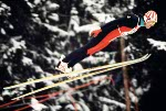 Canada's Tauno Kayko competes in the ski jumping event at the 1980 Winter Olympics in Lake Placid. (CP Photo/COA)