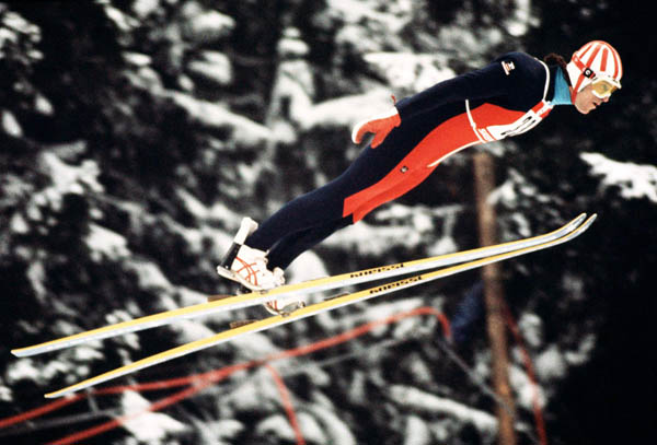 Canada's Rich Grady competes in the ski jumping event at the 1976 Winter Olympics in Innsbruck. (CP Photo/COA)