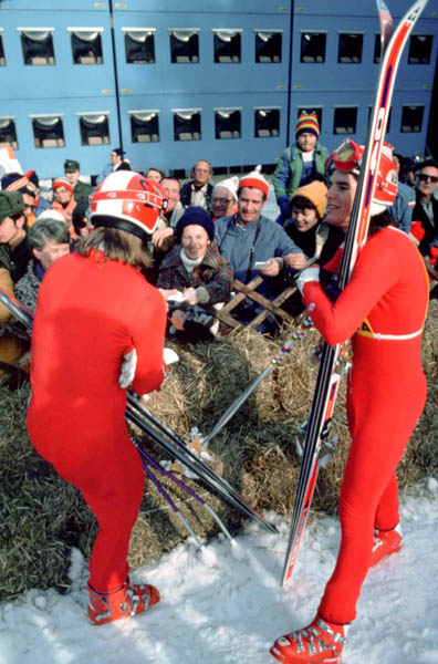 Canada's Ken Read (right) participates in the alpine ski event at the 1976 Winter Olympics in Innsbruck. (CP Photo/ COA)
