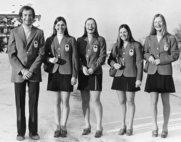 Canada's women's alpine ski team participates at the 1972 Sapporo winter Olympics. (CP Photo/COA)