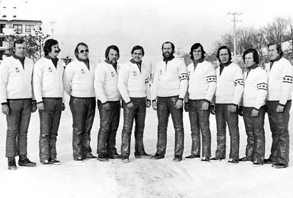 Canada's bobsleigh team at the 1972 Sapporo winter Olympics. (CP Photo/COA)