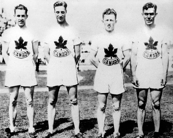 Canada's sprint relay team participate at the 1928 Amsterdam Olympics. (CP Photo/COA)