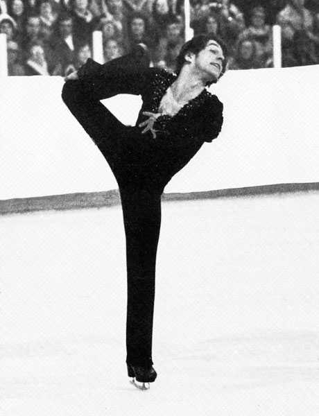 Canada's Toller Cranston skates towards a bronze medal win in the figure skating event at the 1976 Innsbruck Winter Olympics. (CP Photo/ COA)