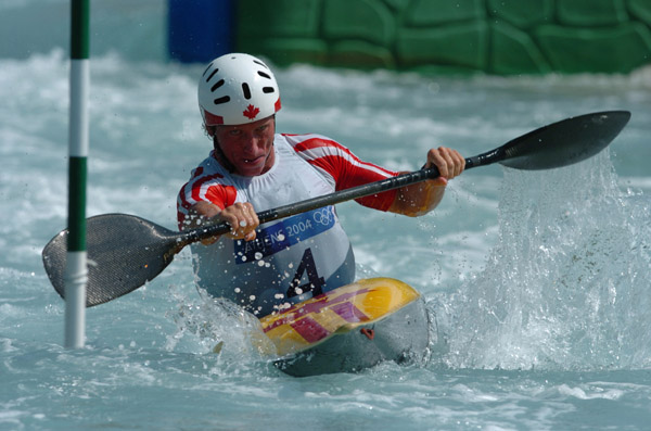 David Ford of the Canadian Canoe/Kayak team practices prior to the Athens 2004 Summer Olympic Games August 12, 2004. (CP PHOTO 2004/Andre Forget/COC)