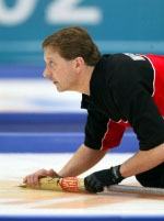 Canada's Don Walchuk, part of the men's curling team at the 2002 Salt Lake City Olympic winter  games. (CP Photo/COA)
