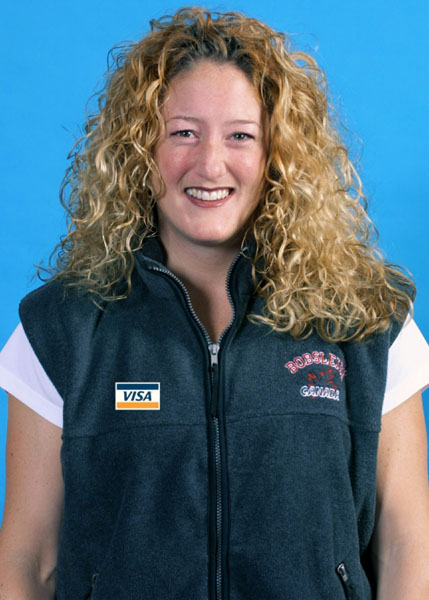 Canada's Christina Smith, part of the bobsleigh team at the 2002 Salt Lake City Olympic winter  games. (CP Photo/COA)