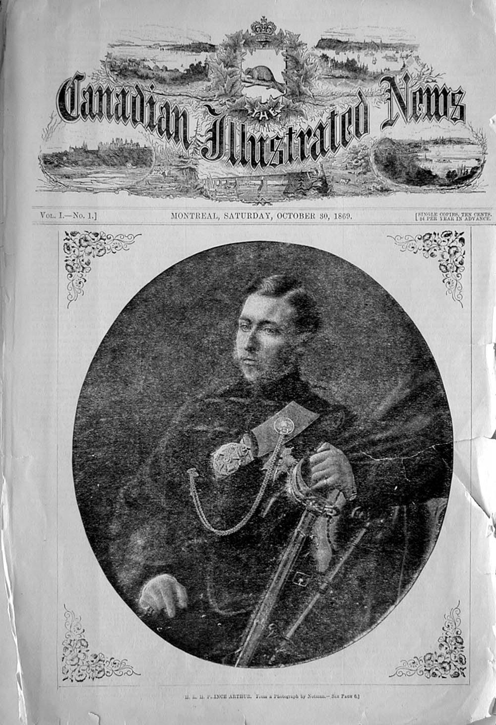 First issue of the Canadian Illustrated News