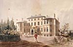 Aquatint of Government House, Halifax, 1819
