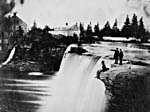 Photograph of the Rideau Falls with Thomas McKay's grist and woolen mills