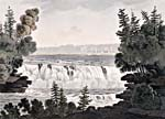 Watercolour of the Chaudière Falls on the Ottawa River, by George Heriot, 1807