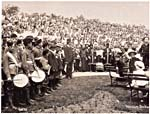 Photograph of people gathered for a band concert at the Public Gardens, Halifax in 1897