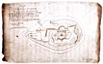 Plan for the new fort on Georges Island in Halifax harbour, by Prince Edward, 1794
