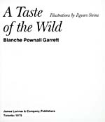 Title page of cookbook, A TASTE OF THE WILD