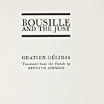 Bousille and the Just, publication
