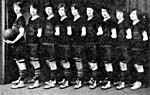 Photograph of the Edmonton Grads women's basketball team, signed by each of the players