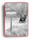 Photograph of a danger sign on a road in Winona, Ontario, 1922