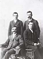 Photograph of Walter, Edwin, Will and Arthur Ganong, 1895