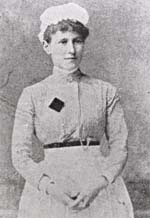 Photograph of Georgina Pope in her nursing uniform
