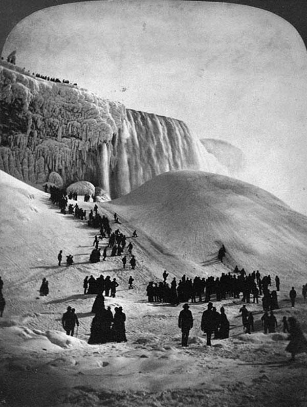 frozen niagara falls simulacrum