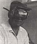 Photograph of Stephen Michalak wearing goggles