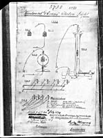 Patent for Woodward & Evans' Electric Light, July 24, 1874, with diagrams of the invention