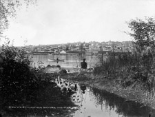 Photograph providing a scenic view of the city of New Westminster before the fire, 1898