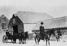Photograph of an Inspection Party on Sable Island, Nova Scotia, 1917