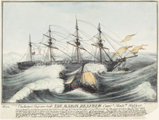 Lithograph entitled THE LARGEST SHIP EVER BUILT, THE BARON RENFREW (1825)