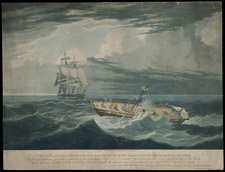 Etching entitled THE MELANCHOLY SHIP WRECK OF THE FRANCES MARY FROM ST. JOHN'S, J. KENDALL MASTER, 1827